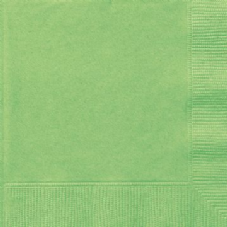20 Lime Green Paper Party Luncheon Napkins
